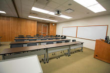 Photo of classroom S106A College of Public Health Building