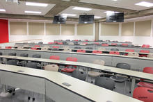 Photo of classroom 301 Lindquist Center