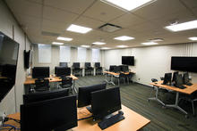 Photo of classroom 18 Phillips Hall