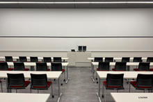 Photo of classroom B70 Psychological  and Brain Sciences Building
