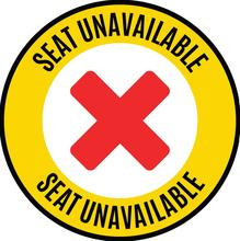 Image of Seat Unavailable sign