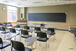 Photo of classroom E238 Adler Journalism Building